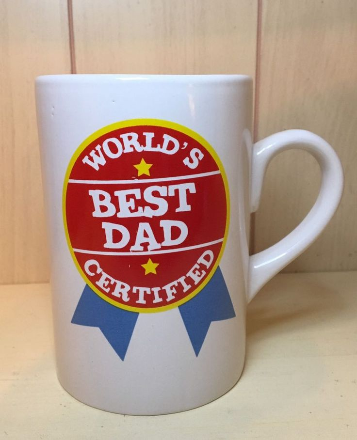 Ceramic Coffee Tea Mug Cup11oz White WORLD'S BEST DAD Great Gift New  | eBay