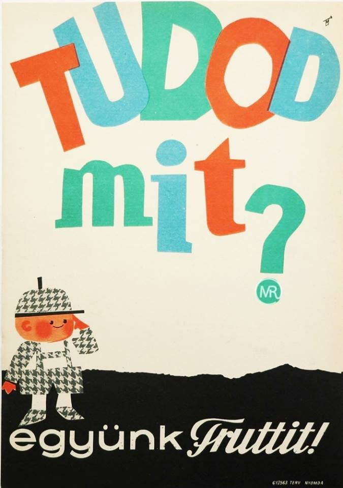 Villamosplakát: Tudod mit? Együnk Fruttit!