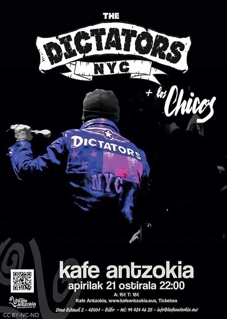 THE DICTATORS NYC | Kafe Antzokia, Bilbao, 21/IV/2017 | Cartel de The Dictators NYC. Fotos por Dena Flows | GALERÍA completa || Full GALLERY: | http://denaflows.com/galerias-de-fotos-de-conciertos/d/dictators-nyc/