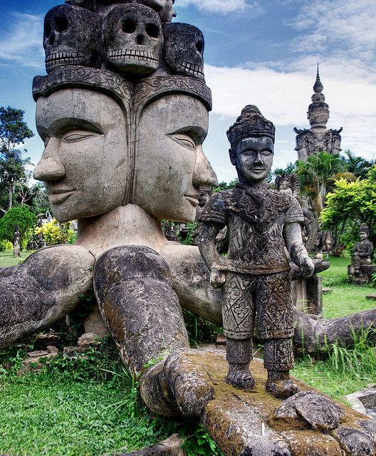 Buddha Park in Vientiane, Laos.