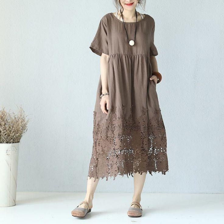 льняное платье в стиле бохо фото оборудован