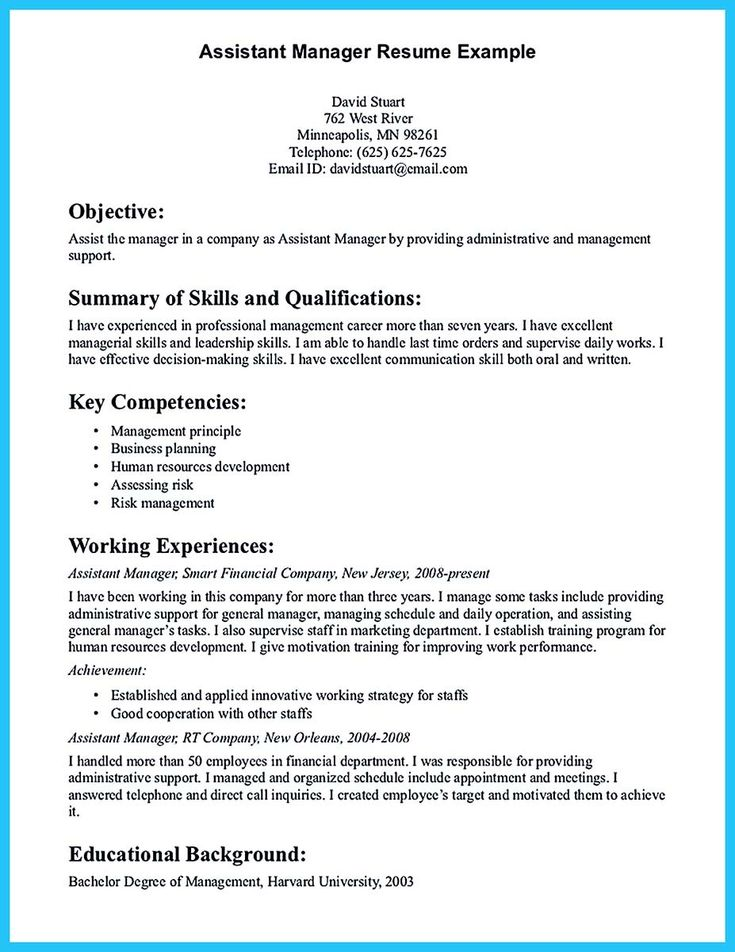 cool Store Assistant Manager Resume That Can Bag You,