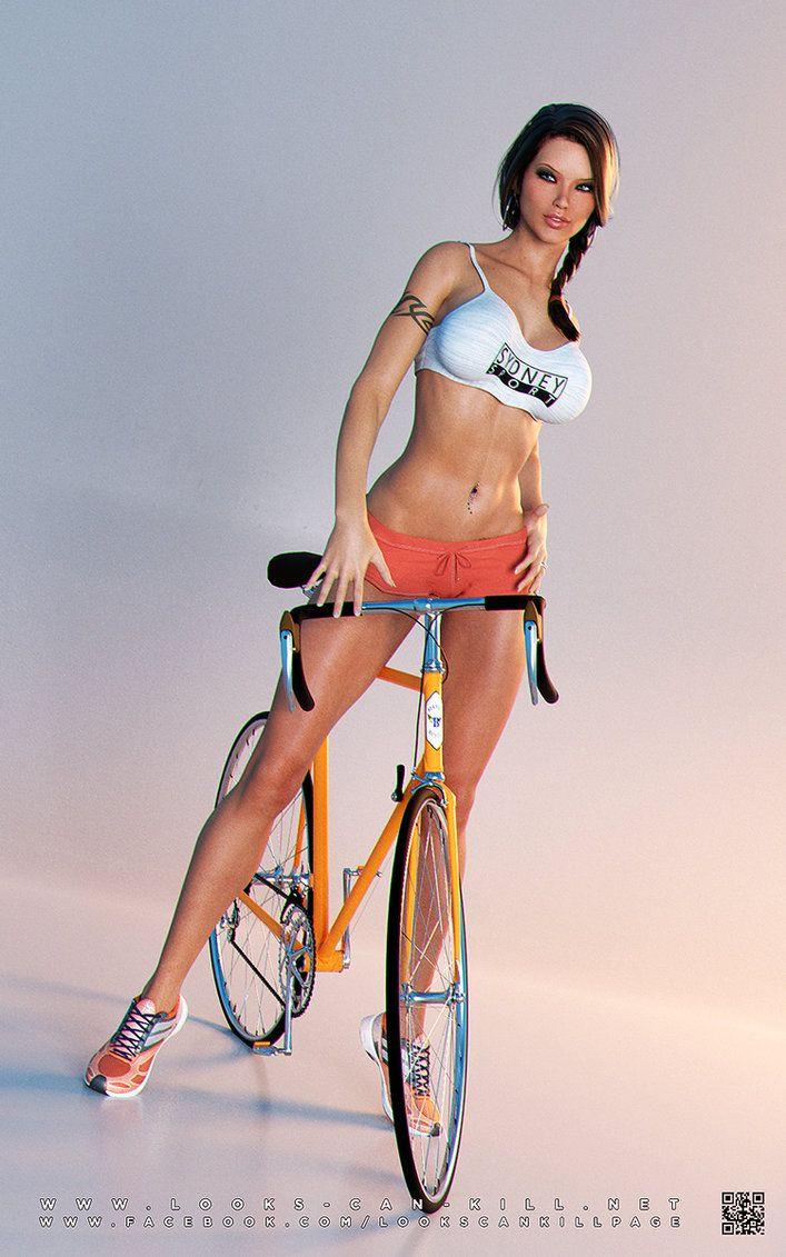Bicicletas & Mulheres: Bicicletas Ciclismo, Bicycle Cycling, Arte 3D, Bike Girl, Bicicletas De Meninas, Bici, Bicicletas Meninas, Meninas Quentes, Meninas Em Bicicletas