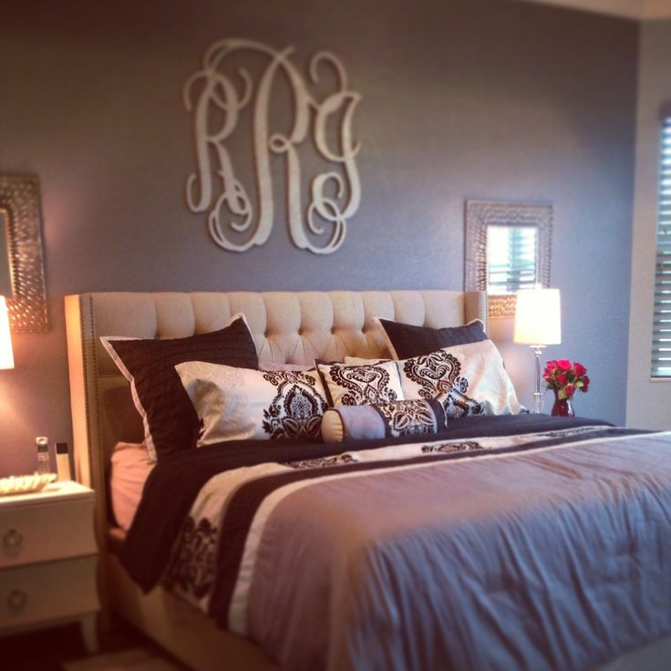 Monogram Wall Decor Ideas : Best monogram above bed ideas on bedroom