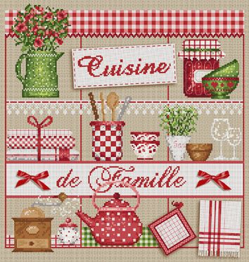 I love this French cross stitch, can't wait to make it.