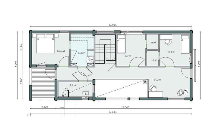 Honka Blockhaus Modell Rock Grundriss Dachgeschoss