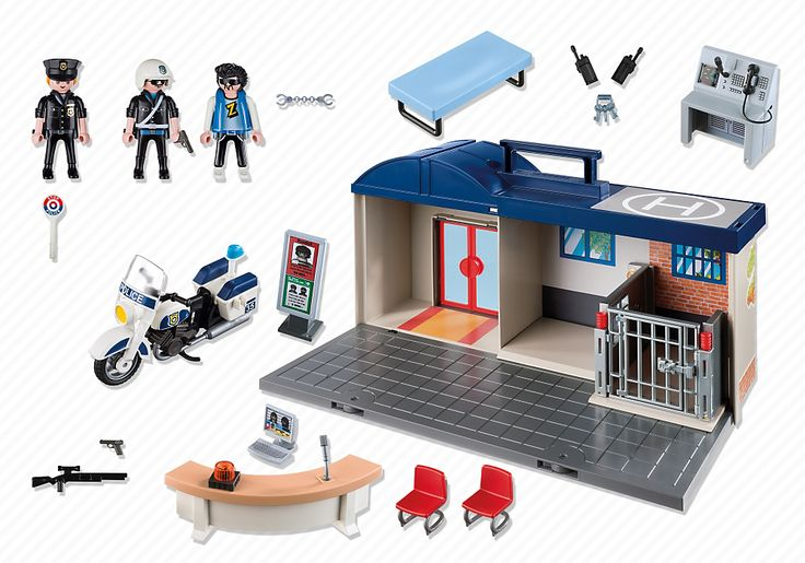 commissariat de police transportable 5299 playmobil. Black Bedroom Furniture Sets. Home Design Ideas