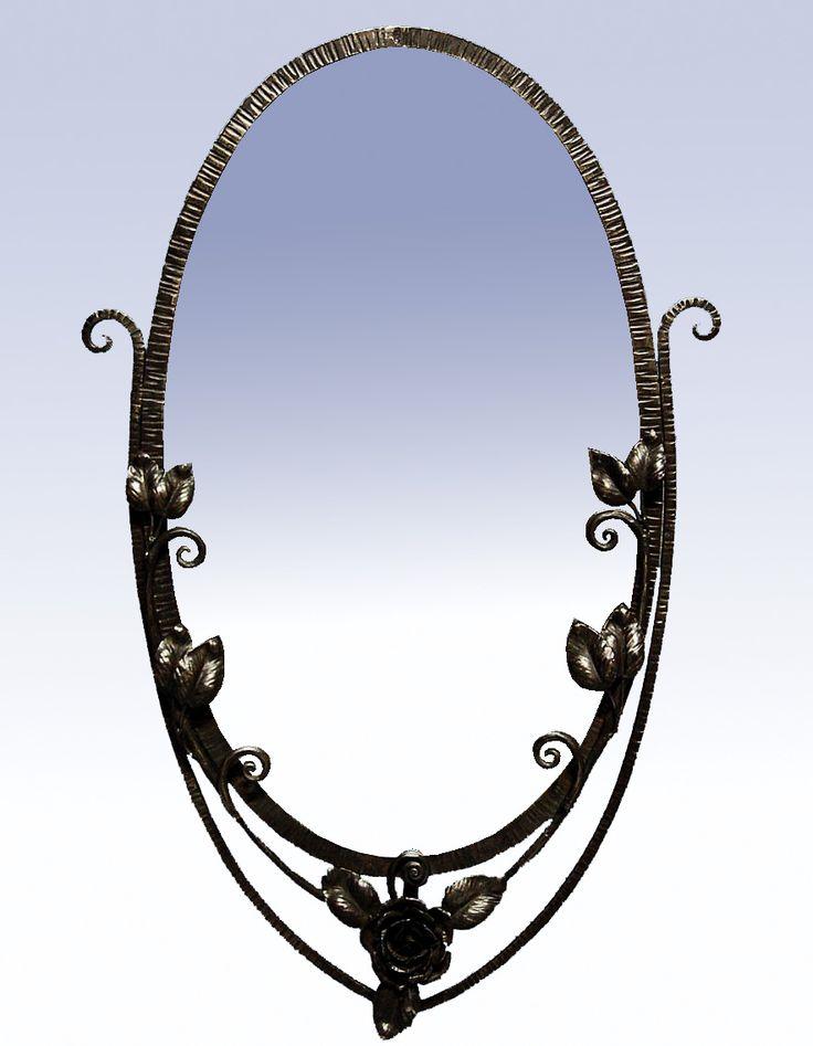 Miroir Art Déco Fer Forgé