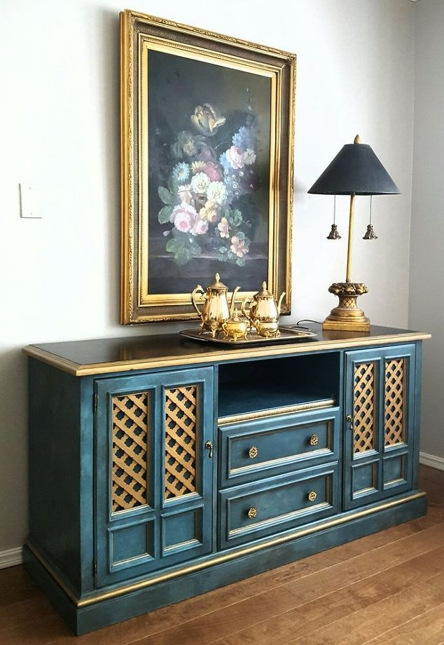 how to make an old dresser into media cabinet or buffet, how to, kitchen cabinets, kitchen design, painted furniture