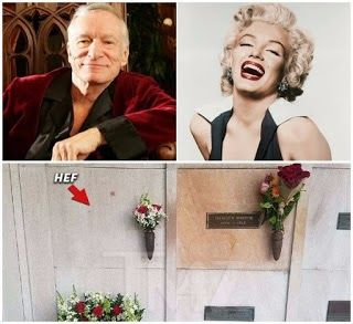 Hugh Hefner was buried yesterday Saturday September 30th 2017 at Westwood Village Memorial Park Cemetery Los Angeles California United States. Only a select few of his closest friends and family were on hand for the ceremony. TMZ reports: Our Playboy sources tell us  Hefs 4 children his wife Crystal Harris and some key Playboy staffers attended the funeral at L.A.s Westwood Village Memorial Park Saturday at noon. As we reported  Hefners crypt is directly to the left of Marilyn Monroes  he…