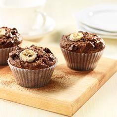 All-Bran® - Cocoa Banana Bran Muffins. Cut the sugar to 1/4 cup and added walnuts. Super tasty!!