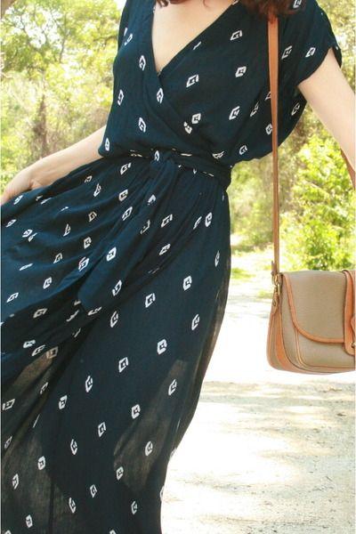 printed maxi dress.