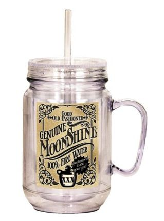 New from Spoontiques these charming mason jars with straw & removable lid are ideal for Summer and a great price! ($11.99)