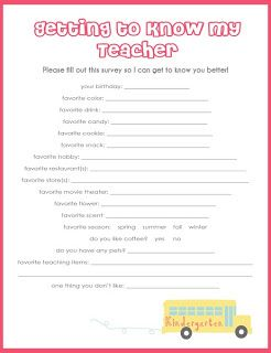 teacher survey templates