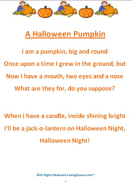 halloween poems and stories