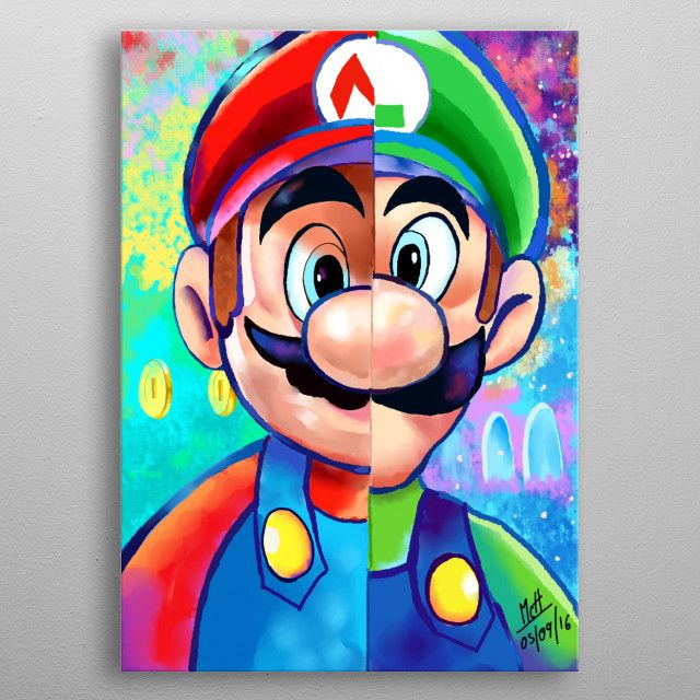 The Mario Bros By Awesome Express Metal Posters Super Mario Art Mario Art Mario And Luigi