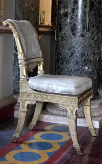 Detail of floor and furniture at Syon House: - Robert Adam