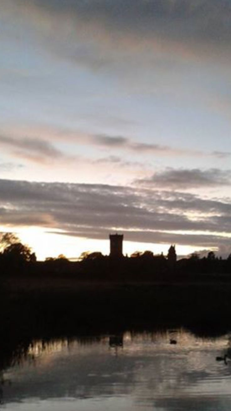 Highroyds Guiseley at dusk.