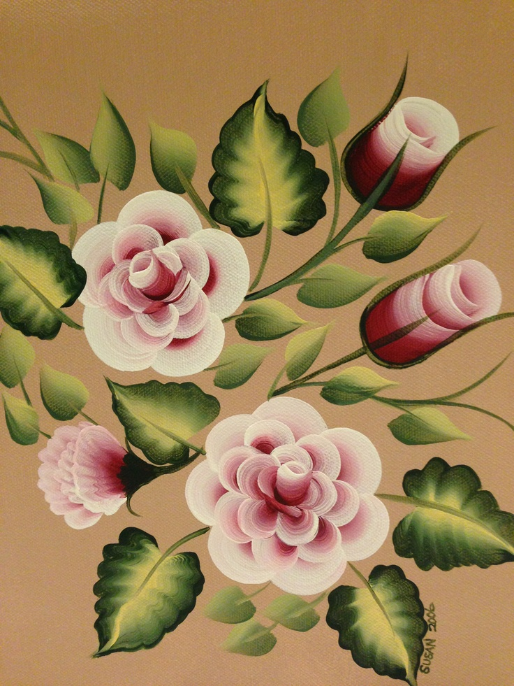 One Stroke Painting Techniques In Florals By Susan Earl