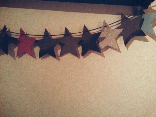 Wimpelkette aus Leder mit Sternen☆