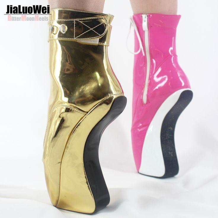 Jialuowei Kobiety Moda Sexy Botki Wysokie Obcasy Pompy Suede Buckle Szpilki Cienkie Heelless Buty Zamka Złota Błyszczące Baletki