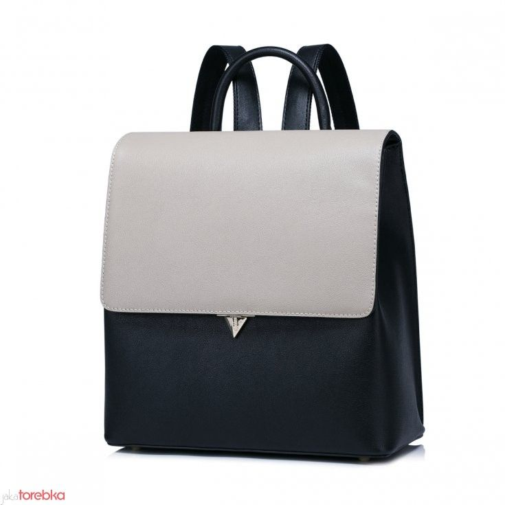NUCELLE Elegancki dwukolorowy plecak skóra  naturalna. Leather Bag. Nowość. New In. Jaka Torebka