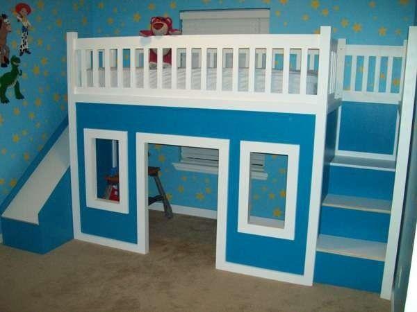 bunk bed with stairs and slide foter etagenbett mit rutscheetagenbett - Hausgemachte Etagenbetten Mit Rutsche