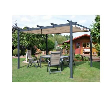 pergola pavillon windschutz leco sonnenschutz garten terrasse 3 x 4 m 450 352 pixel. Black Bedroom Furniture Sets. Home Design Ideas
