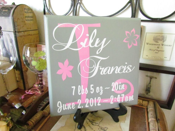 27 best baby gift ideas images on pinterest baby gifts 3d items similar to custom designed baby girl annoucment plaques name and birth information wwithout on etsy negle Images