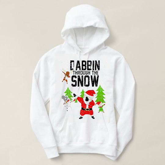Dabbin Through The Snow Christmas Custom Hoodies