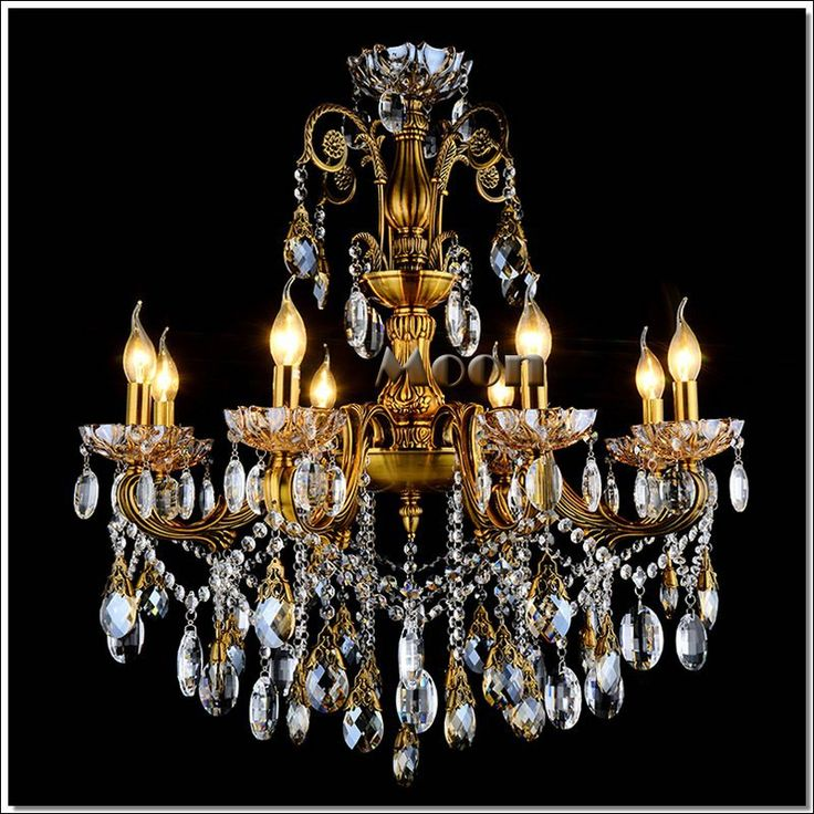 Fashion Big crystal chandelier lighting fixture antique brass color Large  hanging Light Fitting Bronze color for Foyer Hallway(China (Mainland)) - 121 Best House Images On Pinterest Chandeliers, Crystals And