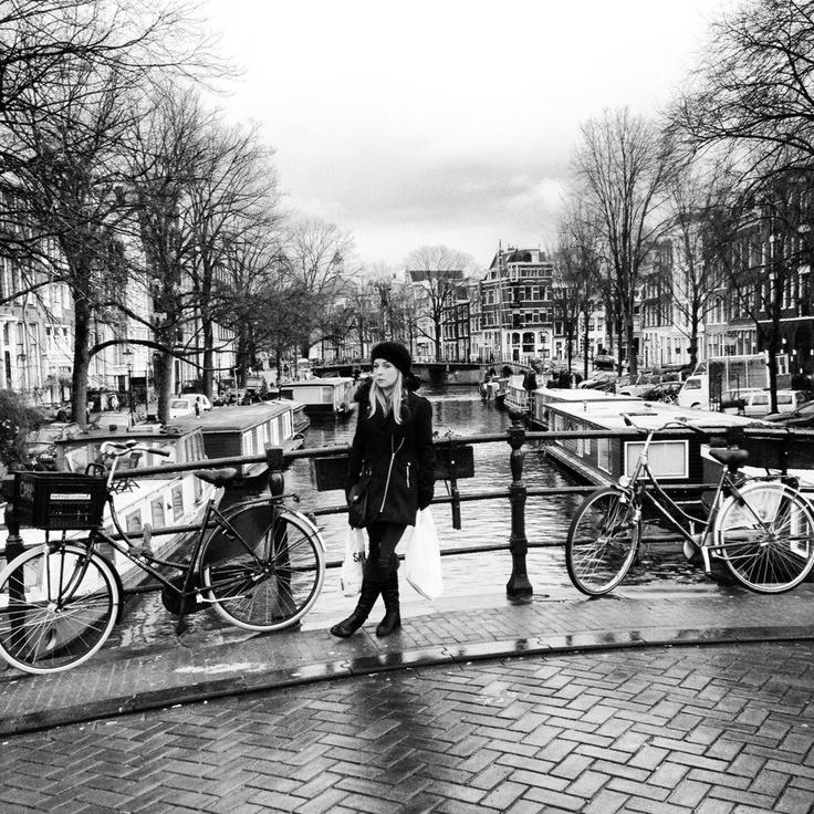 #beautiful #amsterdam #bridge #blackandwhite #photography #cold