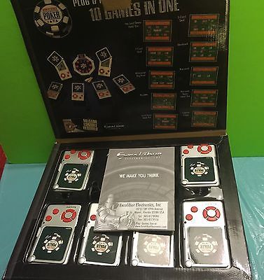 Excalibur World Series Of Poker WSOP Plug And Play 6 Player Video Game Gift