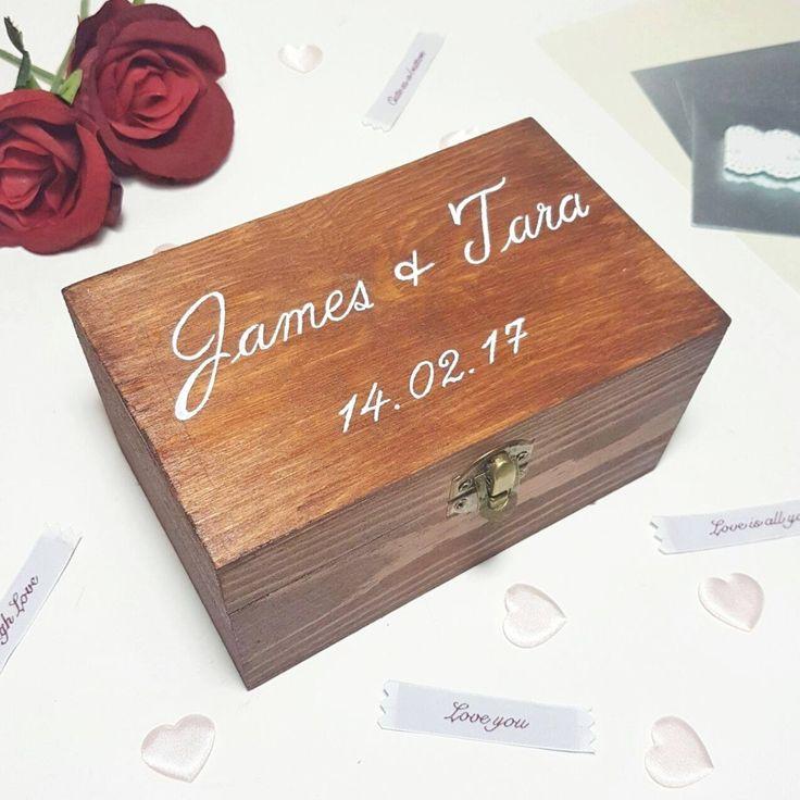 Personalised Wedding Box - Make Memento l Wedding l Wedding Box l Pine Box l Wedding Card Box l Wedding Date Box l Bride and Groom Gift l Personalised Wedding Gift l Personalised Gift Idea