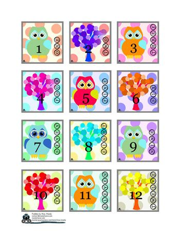 Whoo Owl Calendar (dates and months) - Free with purchase (2013) from the Puddles by Miss Mandy Shoppe! www.mandyfyhrie.com