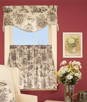 Best 25 toile curtains ideas on pinterest french curtains french country curtains and blue - French country kitchen valances ...