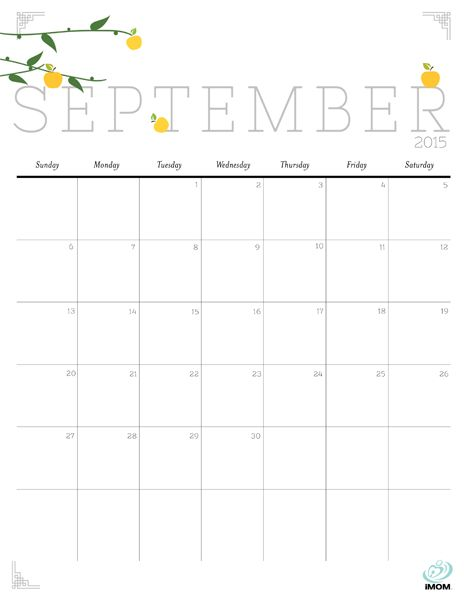 Cute and Crafty 2015 Printable Calendar