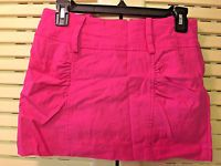 "Juniors Size 5 Body Central Pink 12"" Micro Mini Skirt"