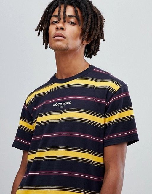 daedd50a Discover the latest women's and men's fashion online. Wood Wood Perry yellow  striped t-shirt