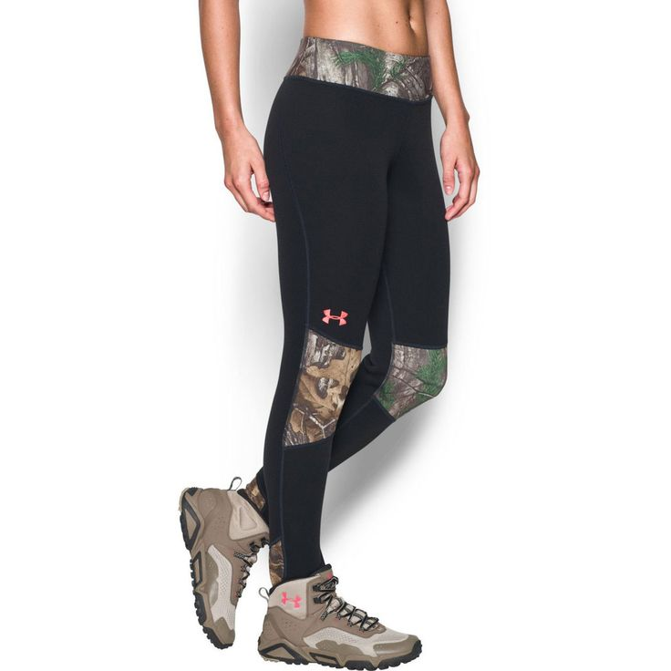 Under Armour Women's Extreme Base Layer Pants Side Image on Model