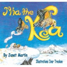 Mia the Kea. Mia is a troublesome young Kea, always getting into mischief. Roger the Ranger has had enough, and with the help of his bird friends, a plan is formed to stop Mia's wicked ways. Will it work? A rhyming picture book by award winning New Zealand author Janet Martin with illustrations by Ivar Treskon. Made in New Zealand for ages 2-6.  See more at www.entirelynz.co.nz/gifts