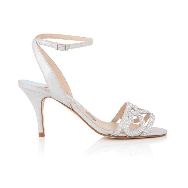 Agnes by Charlotte Mills low heel Swarovski wedding shoes hearts