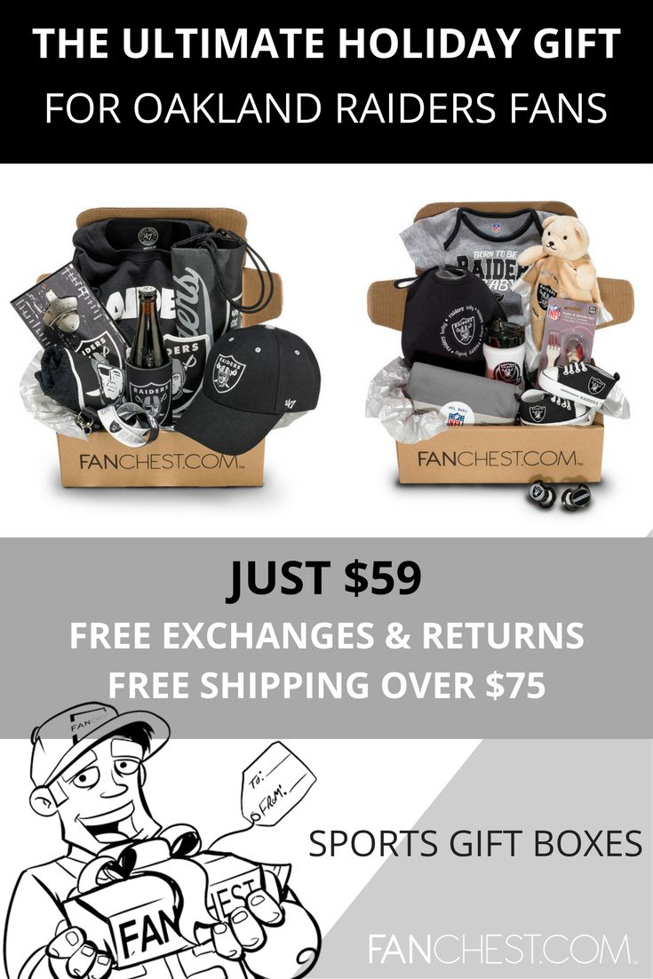 Oakland Raiders Gear + Apparel + Merchandise - Perfect Holiday Gift