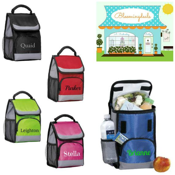 Personalized Lunch Bag Insulated Lunch Tote with by Bloomingdeals