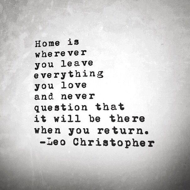 und dann kommst du wieder und alles ist wie es war ❤❤❤ liebe!