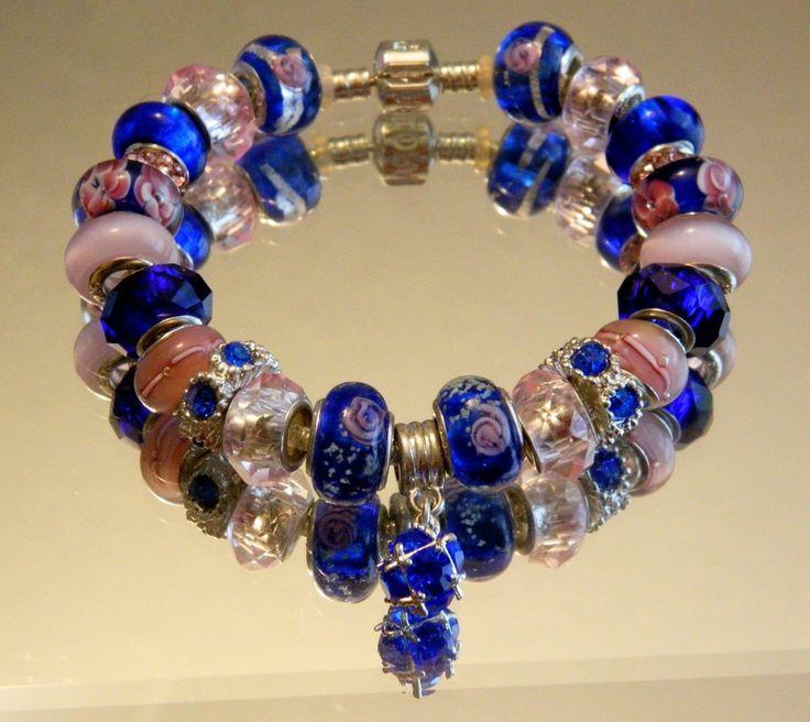 Cobalt Blue and Pink