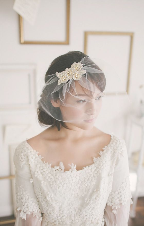 Wedding Veil: This is really pretty, just what I wanted with a short or tea length wedding dress                                                                                                                                                      More