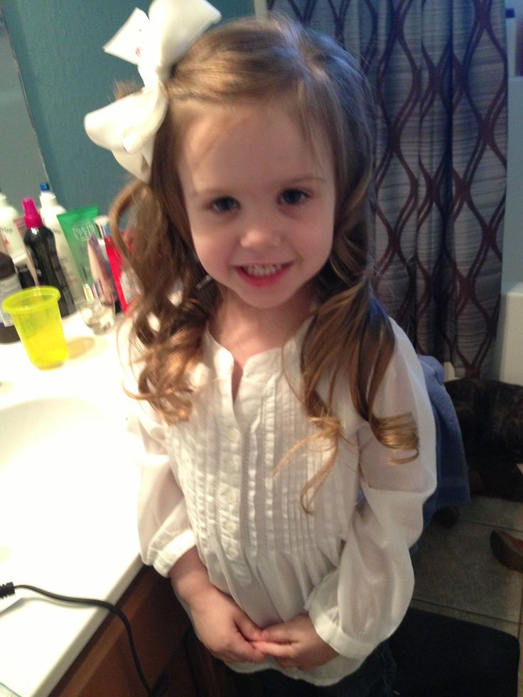 Toddler hairstyles curled hair long beautiful stylish fashionista
