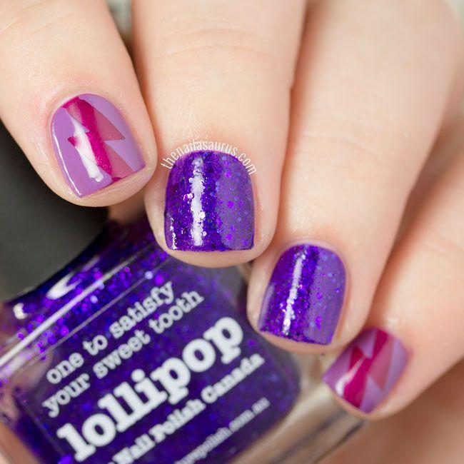 31DC2015: Violet Nails with Lightning Flashes   The Nailasaurus   UK Nail Art Blog