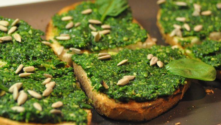 Bruschette cu spanac proaspat | Katja